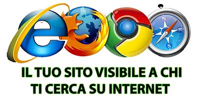 Il tuo sito web su internet per rendersi visibili